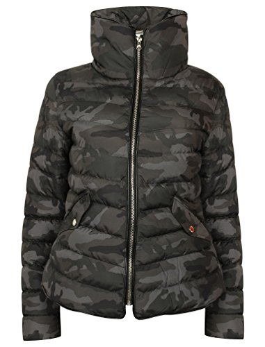 Camo Tokyo Ewok Zelda Grey Quilted Winter Laundry Black Womens Jacket Or anO4P
