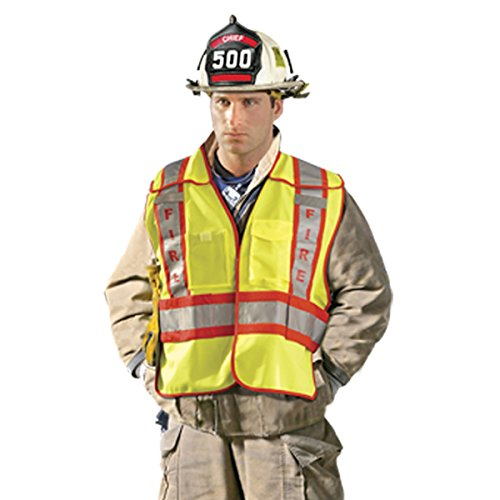 (OccuNomix LUX-PSF-YXL/2 Public Safety Fire Vest, XL/2X-Large, Yellow/Red)