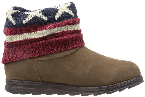 Muk Luks Womens Patti Red Fashion Boot Rosso Scuro
