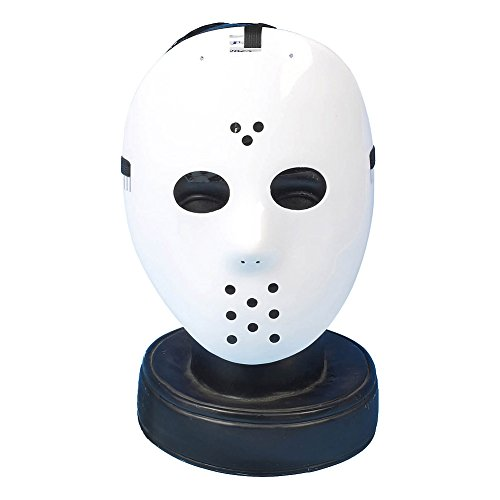 Halloween Hockey Mask (White) by Blue (Classic Scary Halloween Characters)