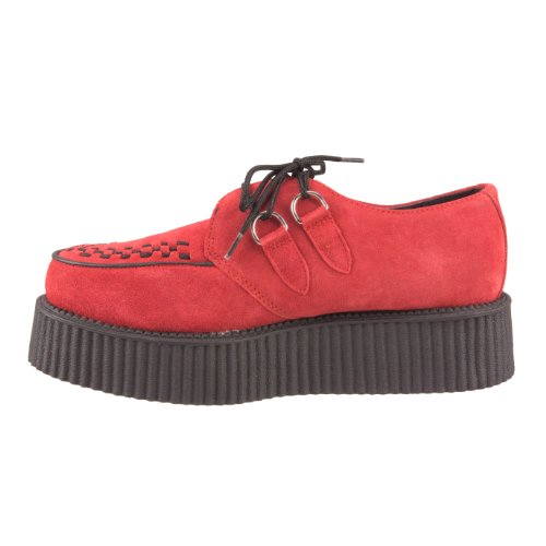 U SUEDE red A8056 Red T K Creeper MONDO SOLE wWq6g