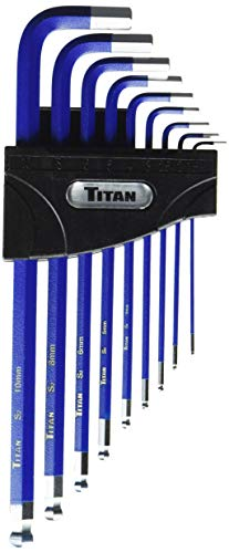 - Titan Tools 12714 9-Piece Extra-Long Arm Ball Tip Metric Hex Key Set