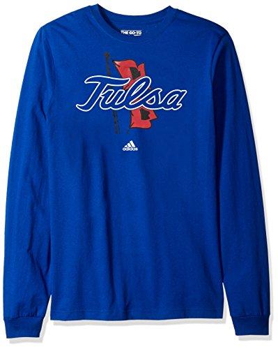 NCAA Tulsa Golden Hurricane Adult men School Logo L/S Tee,Medium,Blue