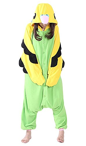 Adult Onesies Pajamas Parrot Cosplay for Women Men Costume Partywear outfit (M (Height:5'3''-5'7''/160cm-169cm), Green Parrot)