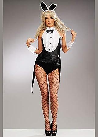 Disfraz de conejita Negra clásica para Mujer Medium (UK 12-14 ...