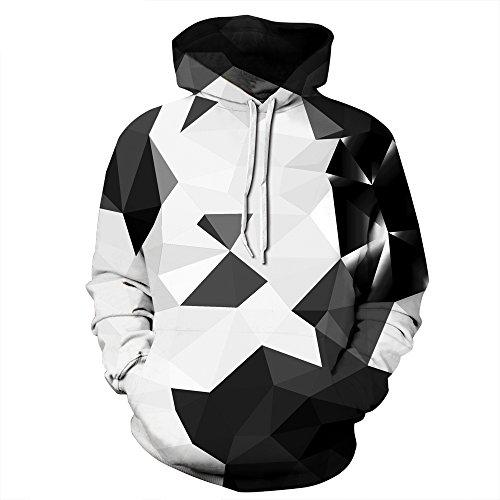 NEWCOSPLAY Unisex Athletic Hooded Sweatshirts 3D Digital Printed Hoodies (L/XL, Geometry) ()