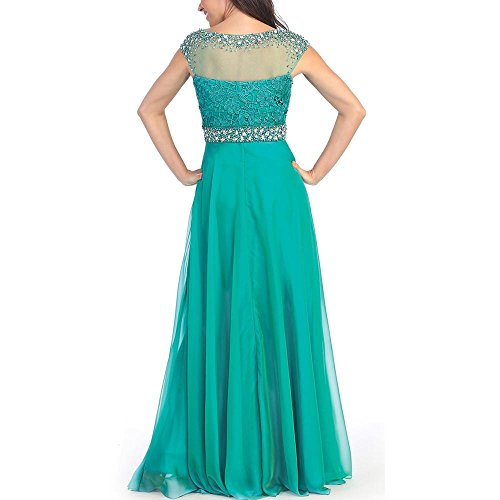 Abaowedding women 39 s green crystal cap sleeves plus size for Amazon dresses for weddings