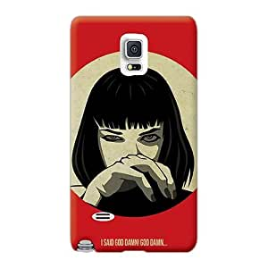 Iphonecase88 Samsung Galaxy Note 4 Shockproof Hard Phone Case Support Personal Customs Colorful Pulp Fiction Pictures [YqS1641PUIk]
