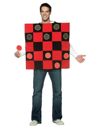 Game Board Costumes Halloween (Checker Board Costume Costume - One Size - Chest Size 48-52)