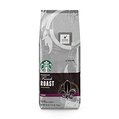 Starbucks French Roast Dark Roast Ground Coffee, 20-Ounce Bag
