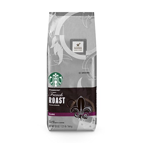 French Medium Roast Coffee - Starbucks French Roast Dark Roast Ground Coffee, 20-Ounce Bag