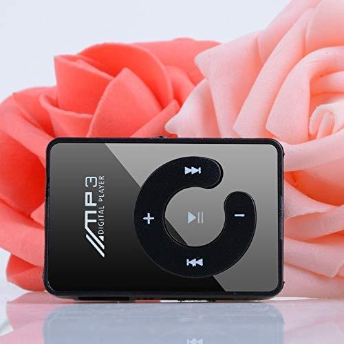 Fashion Clip Sport USB Micro SD TF Mirror C Button MP3 Music Media Player Black