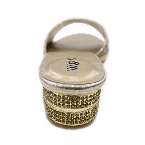 Wear & Walk UK - Sandalias de vestir de Material Sintético para mujer Dorado - dorado