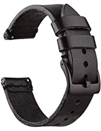 Ritche 20mm Leather Watch Bands, Quick Release Leather Watch Strap Oil Wax Leather Watch Bands for Men