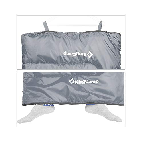 KingCamp XL Double Sleeping Bag Envelope 2 Person Queen Size 4 Season Warm Lightweight Oversize Portable Comfort with Compression Sack for Adults Or Teens Backpacking Camping Hiking 26F/-3C