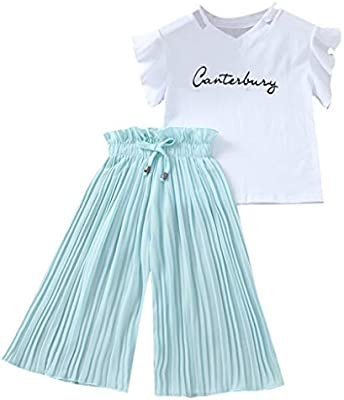 Newborn Toddler Kids Baby Girl Outfit Sets Shirt T-shirt Tops+Long Pants Clothes