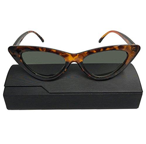 Cat Eye Sunglasses for Women Clout Goggles Retro Vintage Mod Style Sunglasses Leopard (Leopard Style Vintage)