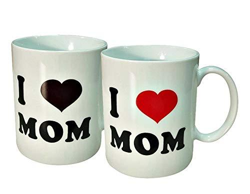 Mom Love Mug - Mother's Day Magic Mug Gifts | I Love Mom | 11 Oz. Ceramic Tea Cup | Presents for Mothers and Grandma