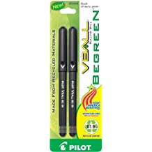 Pilot BeGreen VBall Rolling Ball Pens, Extra Fine Point, 2-Pack, Black Ink -53200