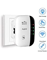 WiFi Router Long Range Extender 300M Wi-Fi Signal Booster Amplifier Wireless Hotspot Access Point Mini Router AP Repeater Mode Dual External Antennas Comply with 802.11n/g/b with WPS Function - 2.4GHz