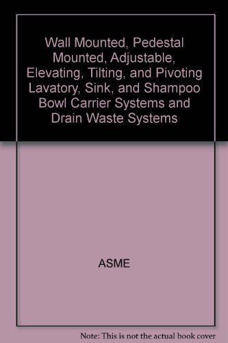 Wall Mounted, Pedestal Mounted, Adjustable, Elevating, Tilting, and Pivoting Lavatory, Sink, and Shampoo Bowl Carrier Systems and Drain Waste - Pivoting Pedestal