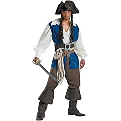 NewDong Men's Pirate Captain Costume Adult Halloween Cosplay Uniform X-Large