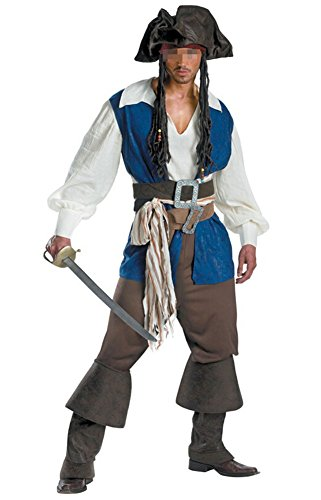 Captain Uniform (NewDong Men's Pirate Captain Costume Adult Halloween Cosplay Uniform X-Large)