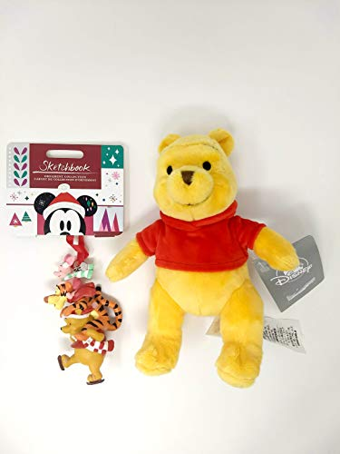 "(Disney Winnie The Pooh and Pals Sketchbook Ornament 2018 Bundled with Winnie The Pooh Plush Mini Bean Bag Toy - 7"")"