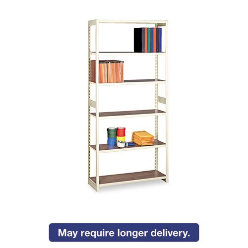 (Tennsco RGL1536SSD 36 by 15 by 76-Inch Regal Shelving Starter Set with 6 Shelves,)