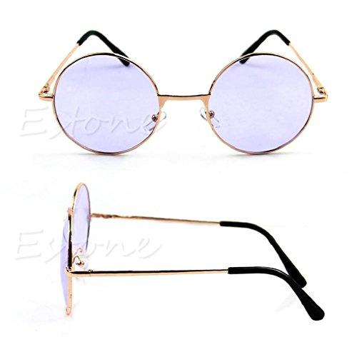 Dubaym New Classic Style Sunglasses Round Shape Irony Shelf Light Weight Sunshine Cool Green Red Blue Purple Yellow Colorful - Glasses Style New