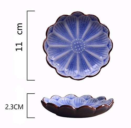 FUYU Fish Ceramic Relief Seasoning Dishes Sauce Dish Appetizer Snack Plate