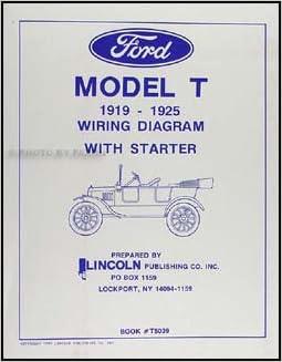 1919-1925 Ford Model T Wiring Diagram Manual Reprint ...