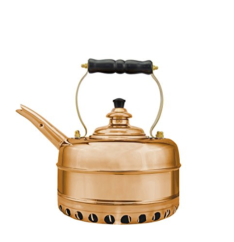 Simplex Heritage 2 Quart Copper Tea Kettle for Gas Stovetops