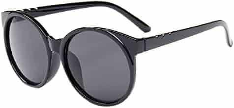 6500e37cf7a3 HUAYI Unisex UV400 Outdoor Large Frame Retro Round Sunshade Sunglasses