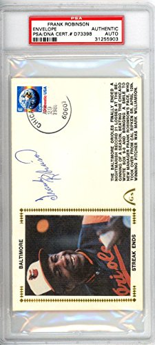 Frank Robinson Autographed Signed First Day Cover Orioles 134310 PSA/DNA Certified MLB Cut Signatures
