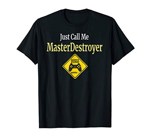 Master Destroyer Just Call Me T Shirt Gift for Gamers