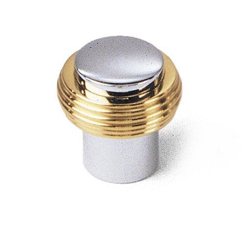Laurey 40526 Gleaming Solid Brass 1-1/4-Inch Diameter Knob, Chrome with Brass Ends - Chrome Brass Hardware