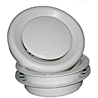 Continental Fan Manufacturing GR100 Adjustable Grille for use with 4 Round Duct, White