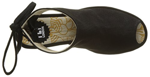 Fly Women's Black Black Toe Open London Sandals Ypul799fly wrnCvr5q
