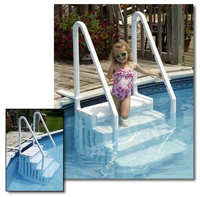 Amazon.com: Escalera para piscina desmontable Blue Wave ...