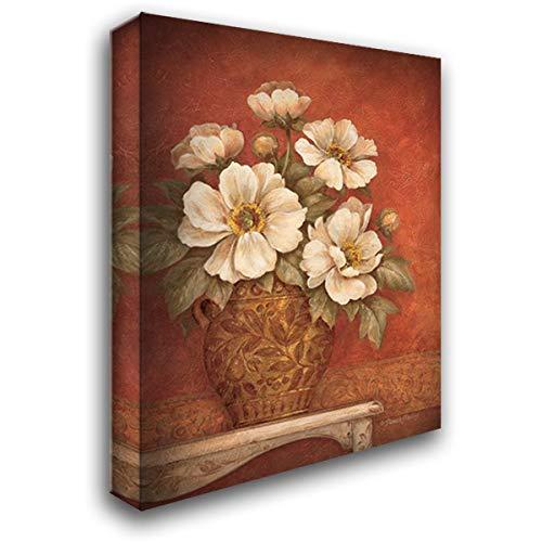 Gladding Villa - Villa Flora Peonies 20x24 Gallery Wrapped Stretched Canvas Art by Gladding, Pamela