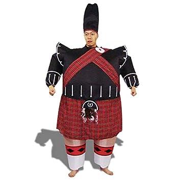 Disfraz protector inflable escocés con el sombrero: Amazon ...
