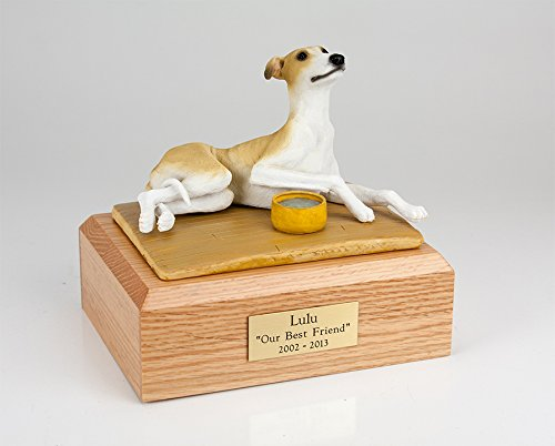 Ever My Pet Greyhound Laying Figurine Urn Tan Xlarge