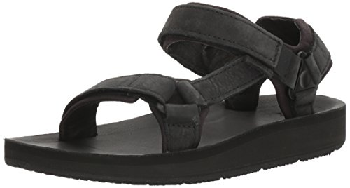 Teva Women's W Original Universal Premier- Leather Sport Sandal, Midnight Black, 11 M US