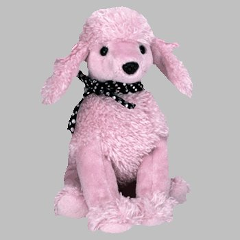 Ty Beanie Babies - Brigitte the Pink Poodle Dog (Baby Poodle)