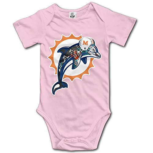 [NINJOE Newborn Baby Dolphins Football Team Short Sleeve RomperVest For 12 Months Pink] (Flash Drive Costume)