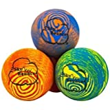 Sky Bounce Balls Rainbow Color Rubber Handball For Recreational Handball (Hand Ball), Stickball, Racquetball, Catch, Fetch, and Many More Games 2 1/4 Diameter Premium Hollow Rubber (Pack of 12)
