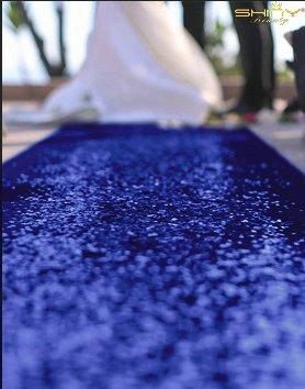 ShinyBeauty Purple-Aisles Runner Personalized,Sparkle Wedding Aisle Runner Long 30FTx4FT Sequin Carpet (RoyalBlue) from ShinyBeauty