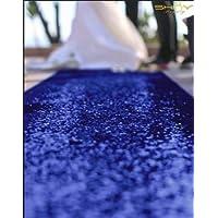 ShinyBeauty RoyalBlue-Aisle Runner-50FTX4FT,Glitter Sequin Wedding Aisles Floor Runner,Sparkle Carpet Runner