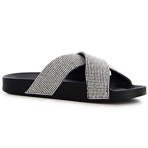 Femmes Sandalettes topschuhe24 topschuhe24 Noir Sandales Femmes gO70xEwnqB